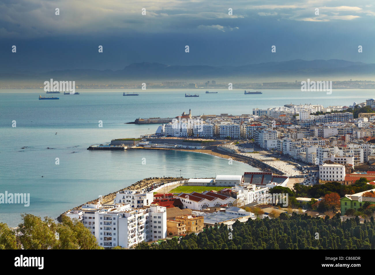 Algeri la città capitale di Algeria, Nord Africa Immagini Stock