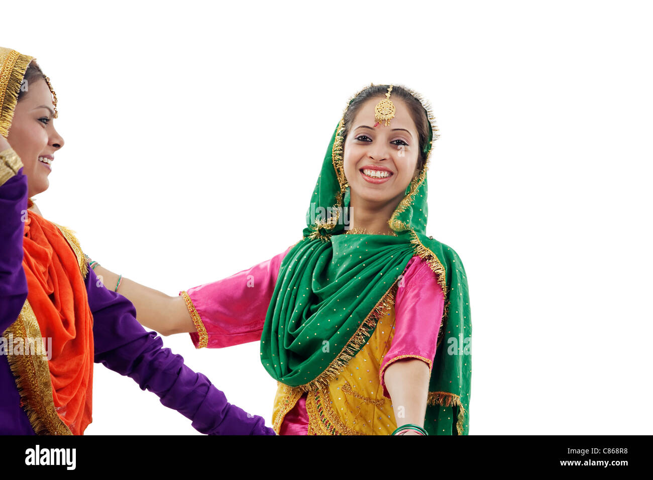 La religione sikh donne che danzano Foto Stock