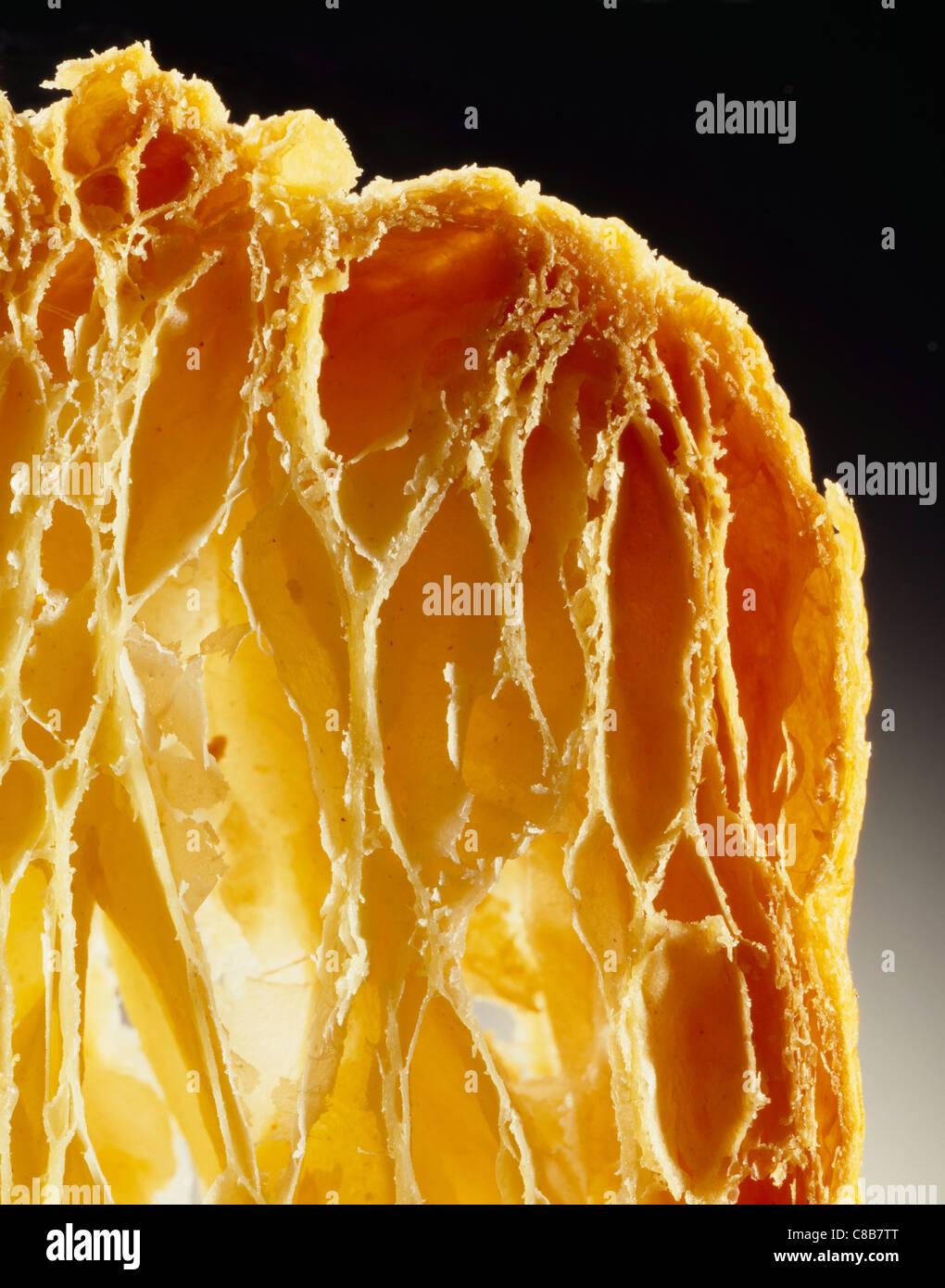 Close up di cuocere pasta sfoglia Immagini Stock