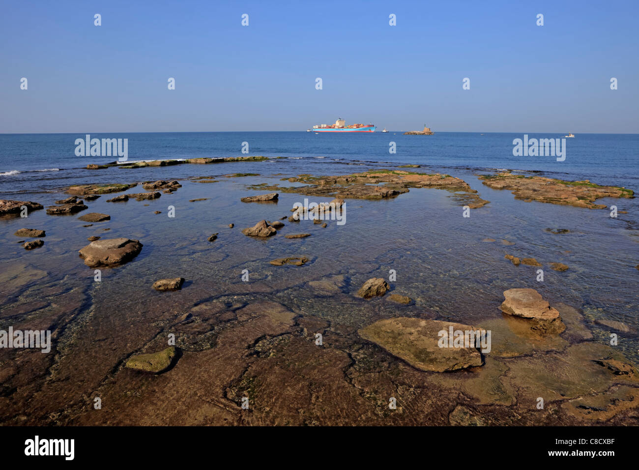 L'arcipelago di Livorno nel Mediterraneo Immagini Stock