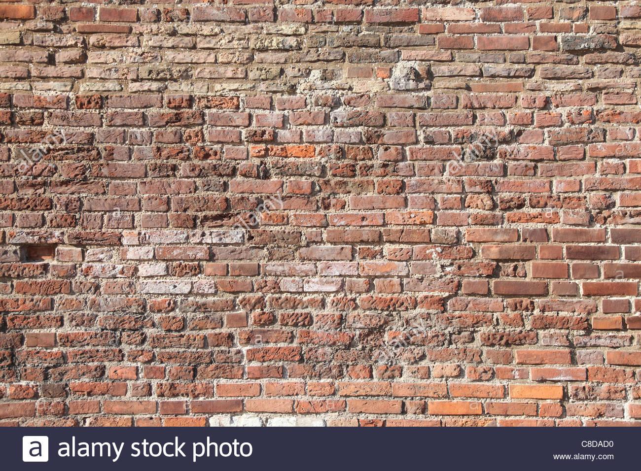 Sfondo astratto con il vecchio muro di mattoni. Foto Stock