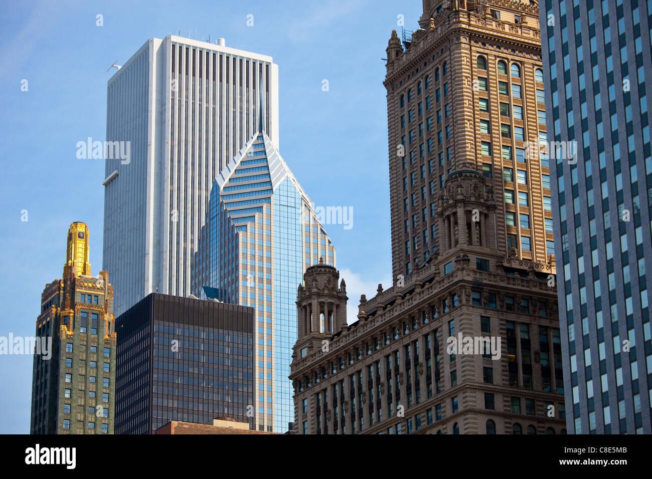 Skyline, Chicago, Illinois Immagini Stock