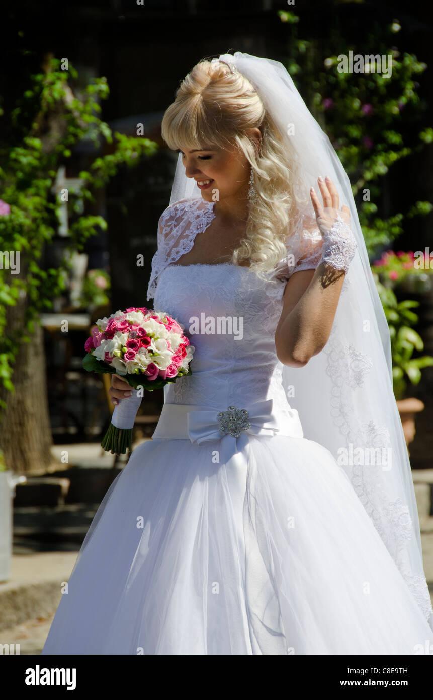 Abiti Da Sposa Western.Ucraina Odessa Tipico Sposa Ucraino In Stile Western White Abito