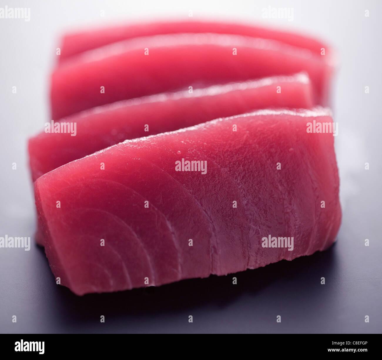 Tonno rosso sashimis Immagini Stock