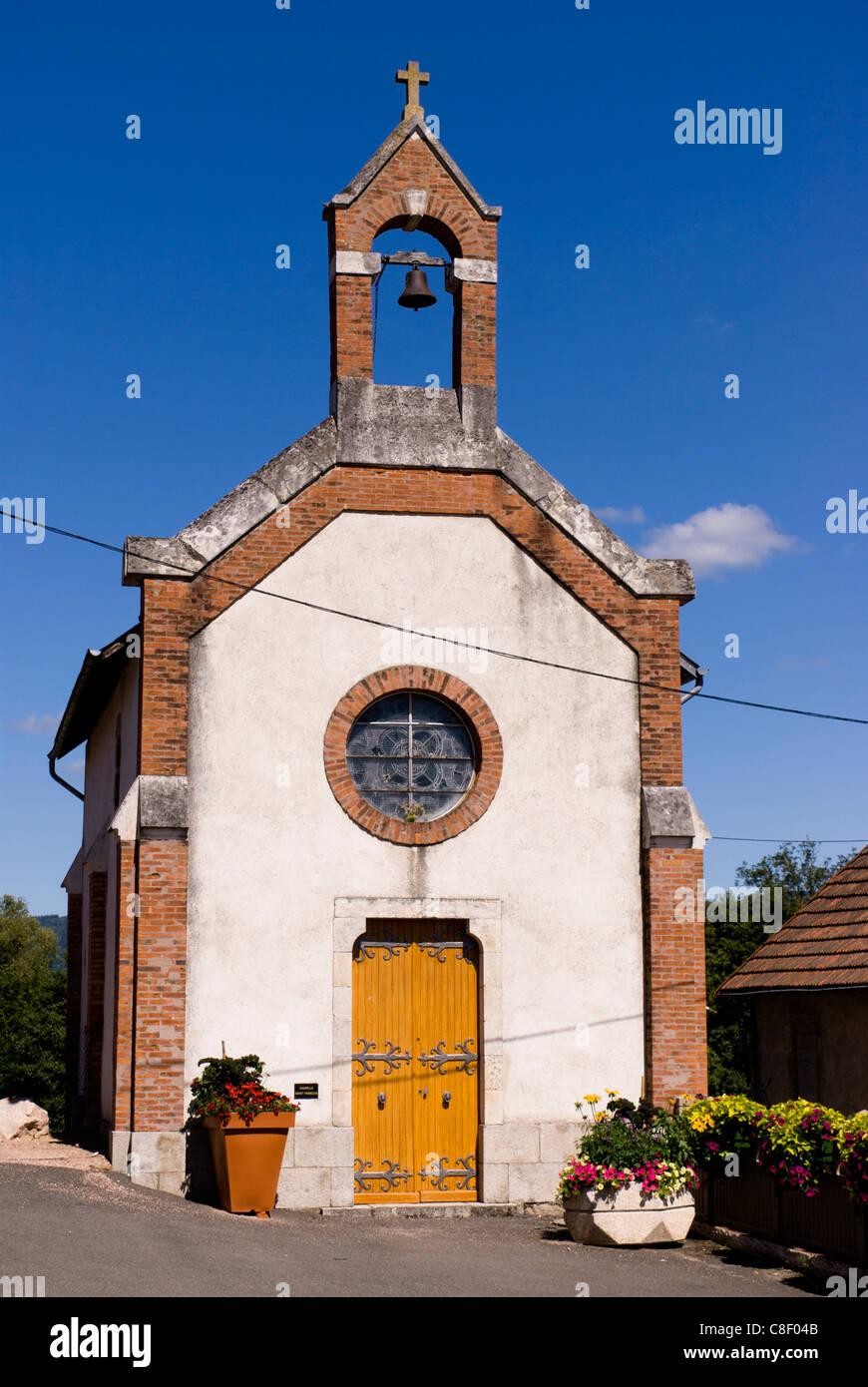 Saint-François cappella, Le Mayet-de-Montagne, Allier, regione Auvergne, Francia Immagini Stock