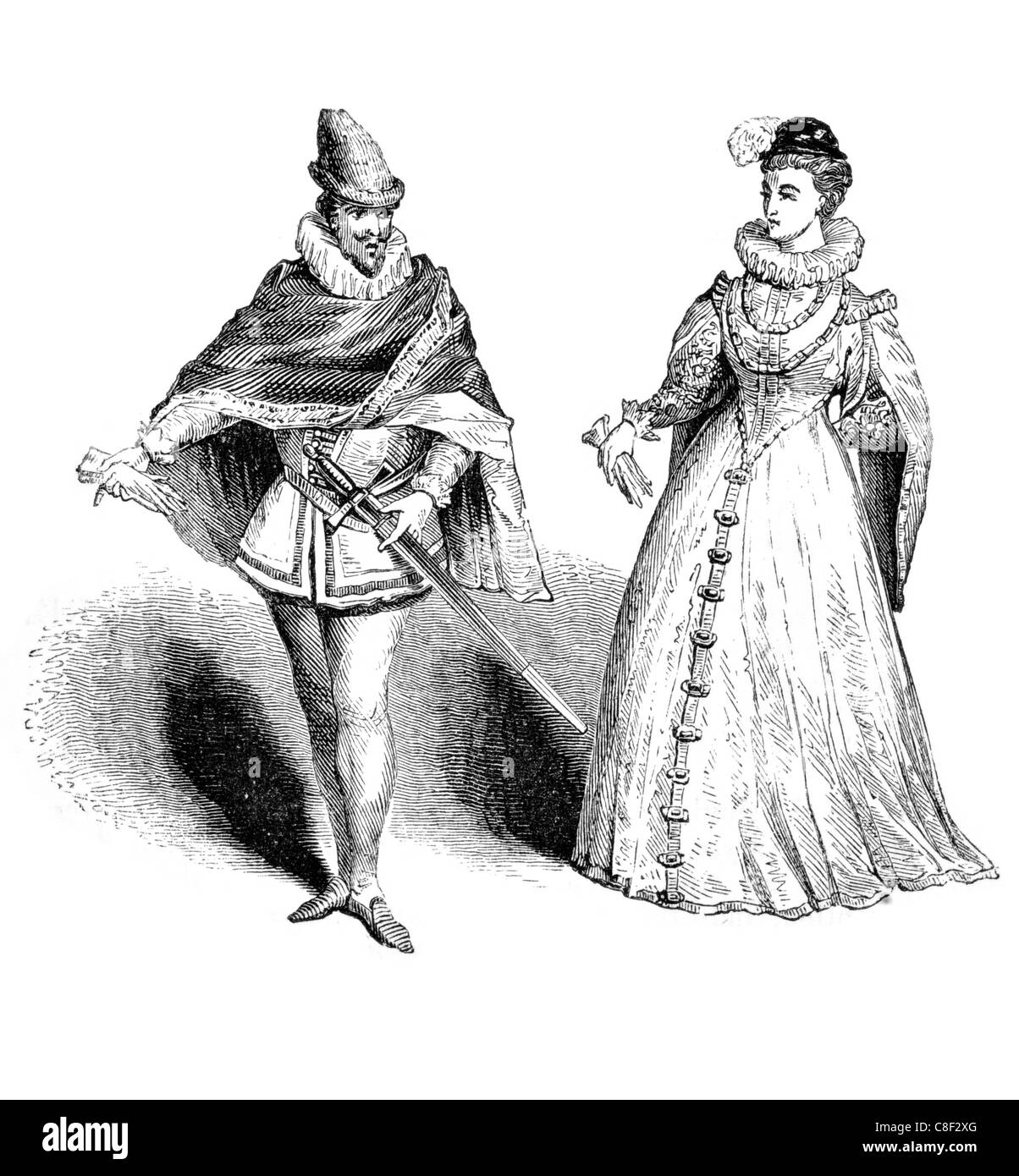 huge discount 65743 3c15d Navarra sedicesimo secolo costumi costume abbigliamento ...