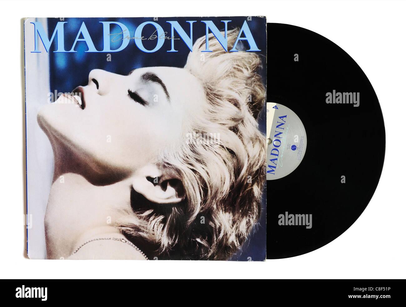 Madonna vero album blu Immagini Stock