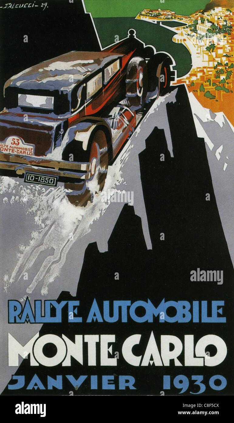 RALLY DI MONTE CARLO 1930 Immagini Stock