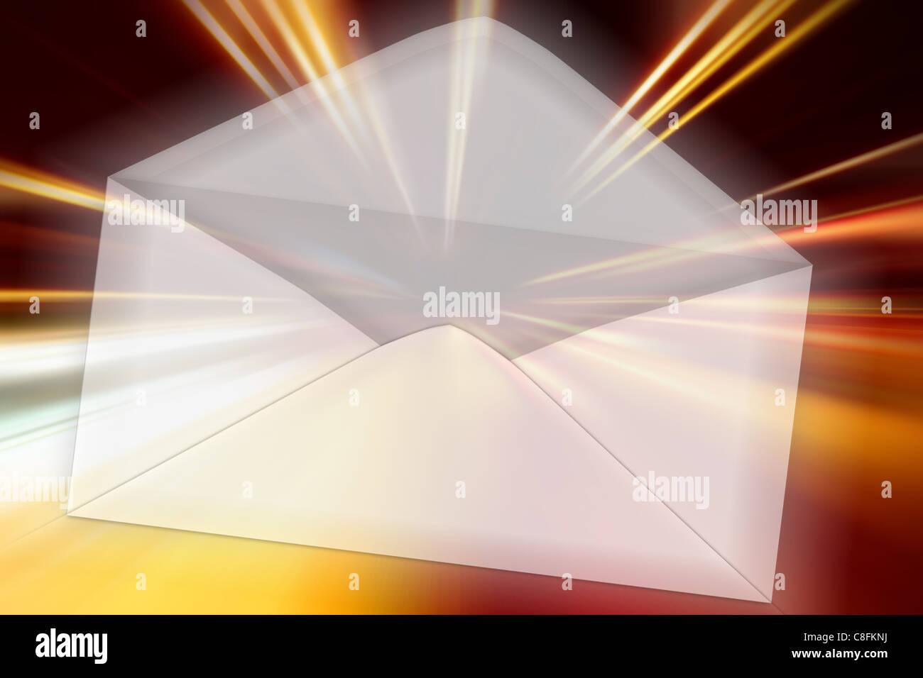 Notte zoom moto di accelerazione Immagini Stock
