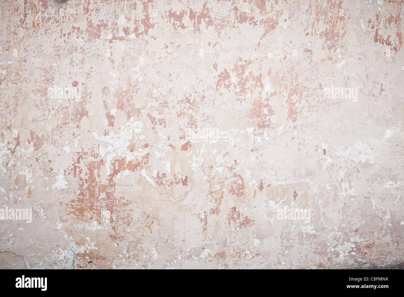 Vecchia parete danneggiata Immagini Stock