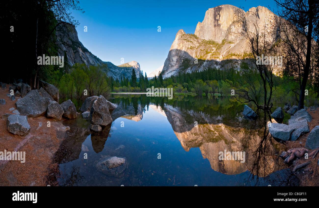 Mirror Lake, il Parco Nazionale di Yosemite, Sito Patrimonio Mondiale dell'UNESCO, California, Stati Uniti d'America Foto Stock