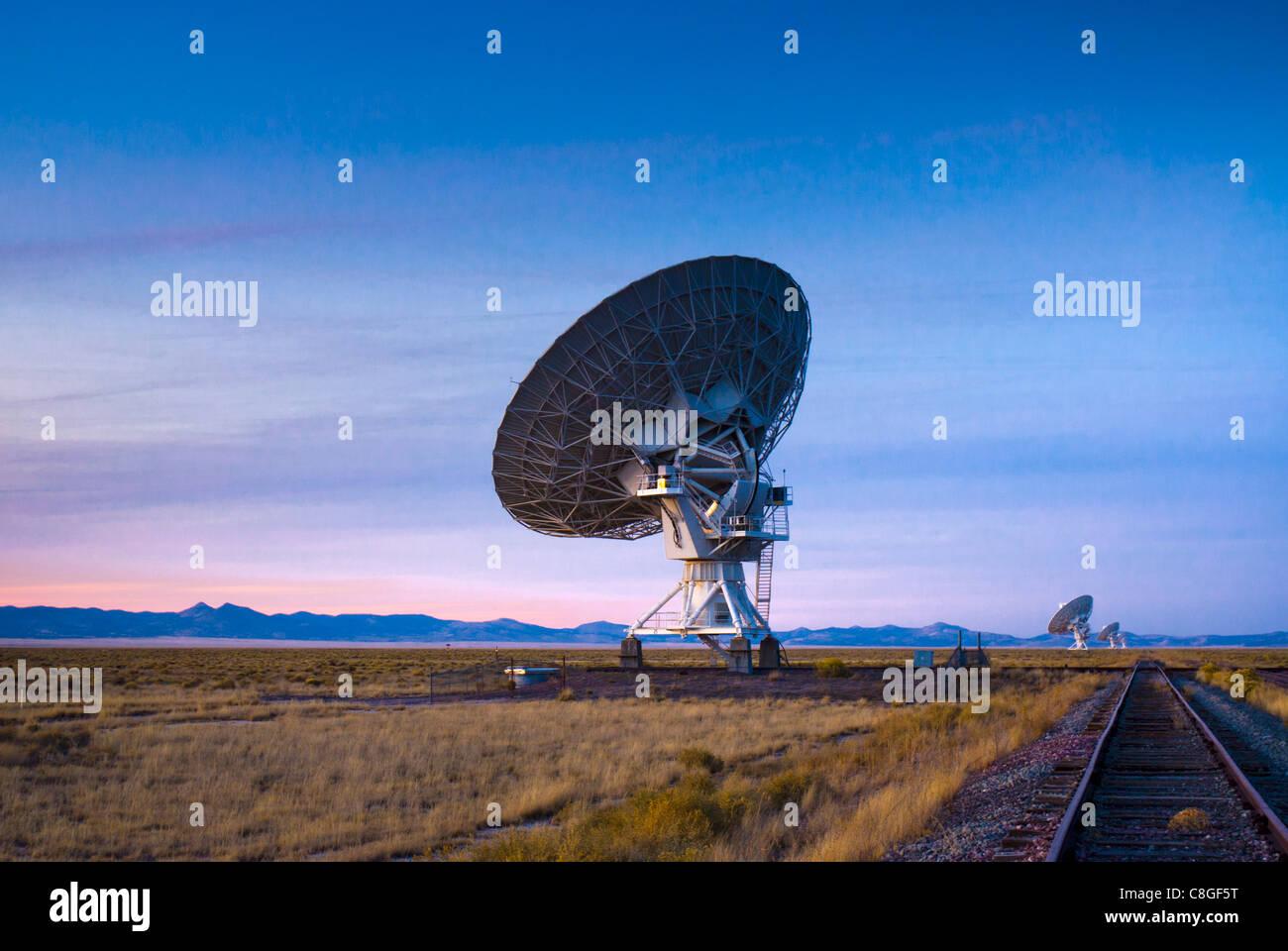 VLA (molto grandi array) della radio nazionale osservatorio astronomico, Nuovo Messico, Stati Uniti d'America Immagini Stock