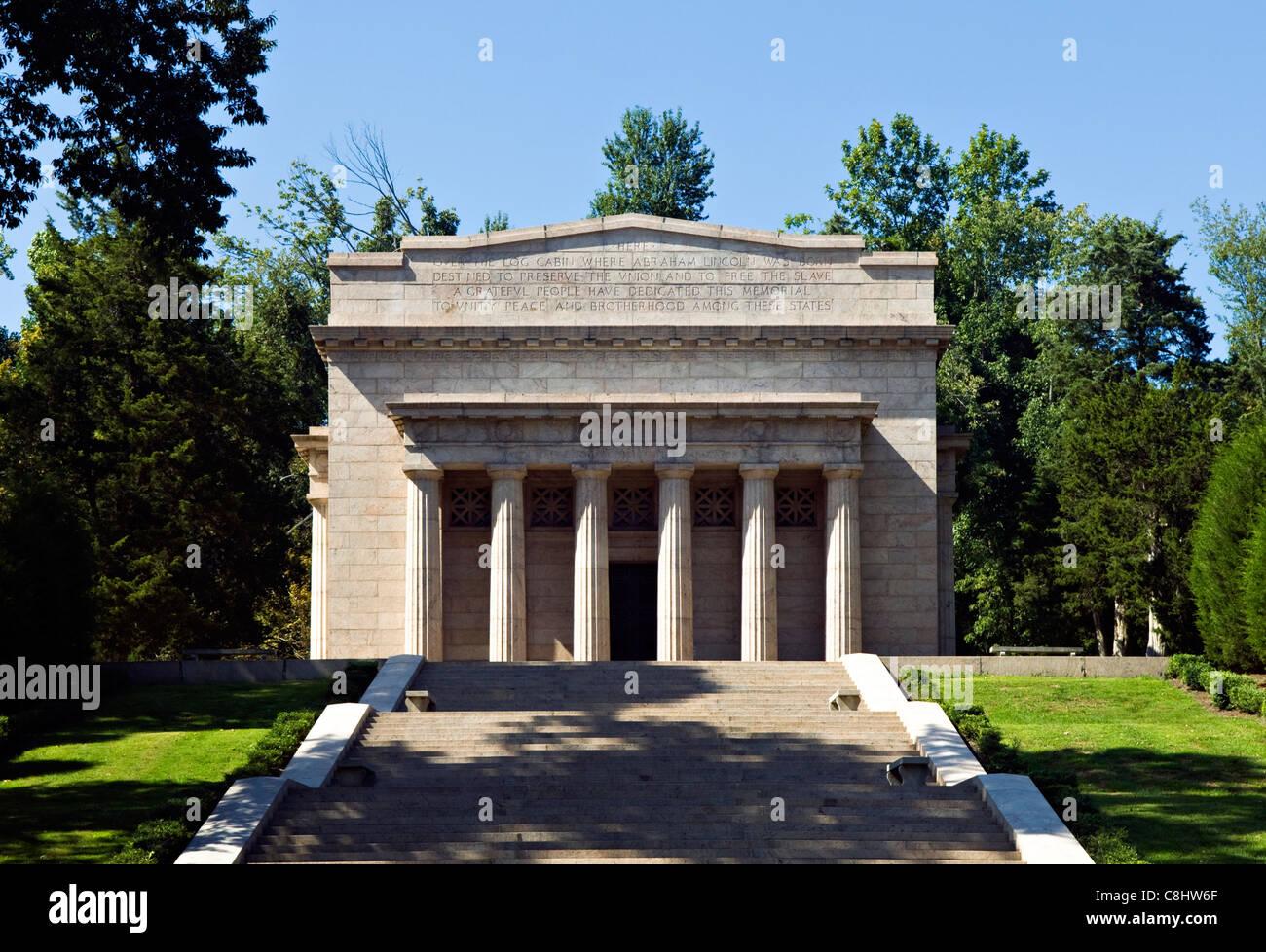 Abraham Lincoln Birthplace National Historic Park nella contea di LaRue, Kentucky Immagini Stock