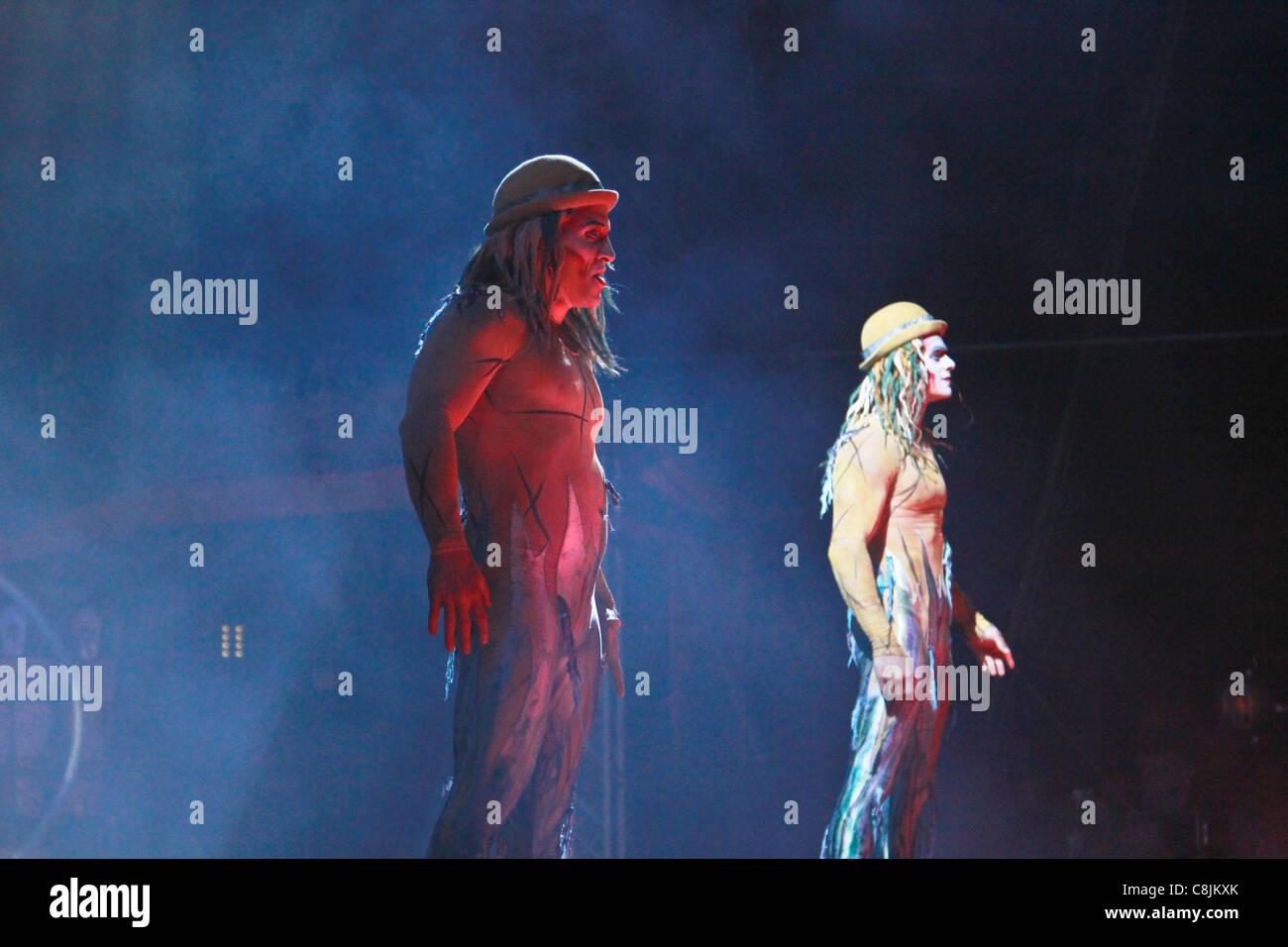Premiere in Kuwait del nuovo Cirque du Soleil Visualizza Immagini Stock