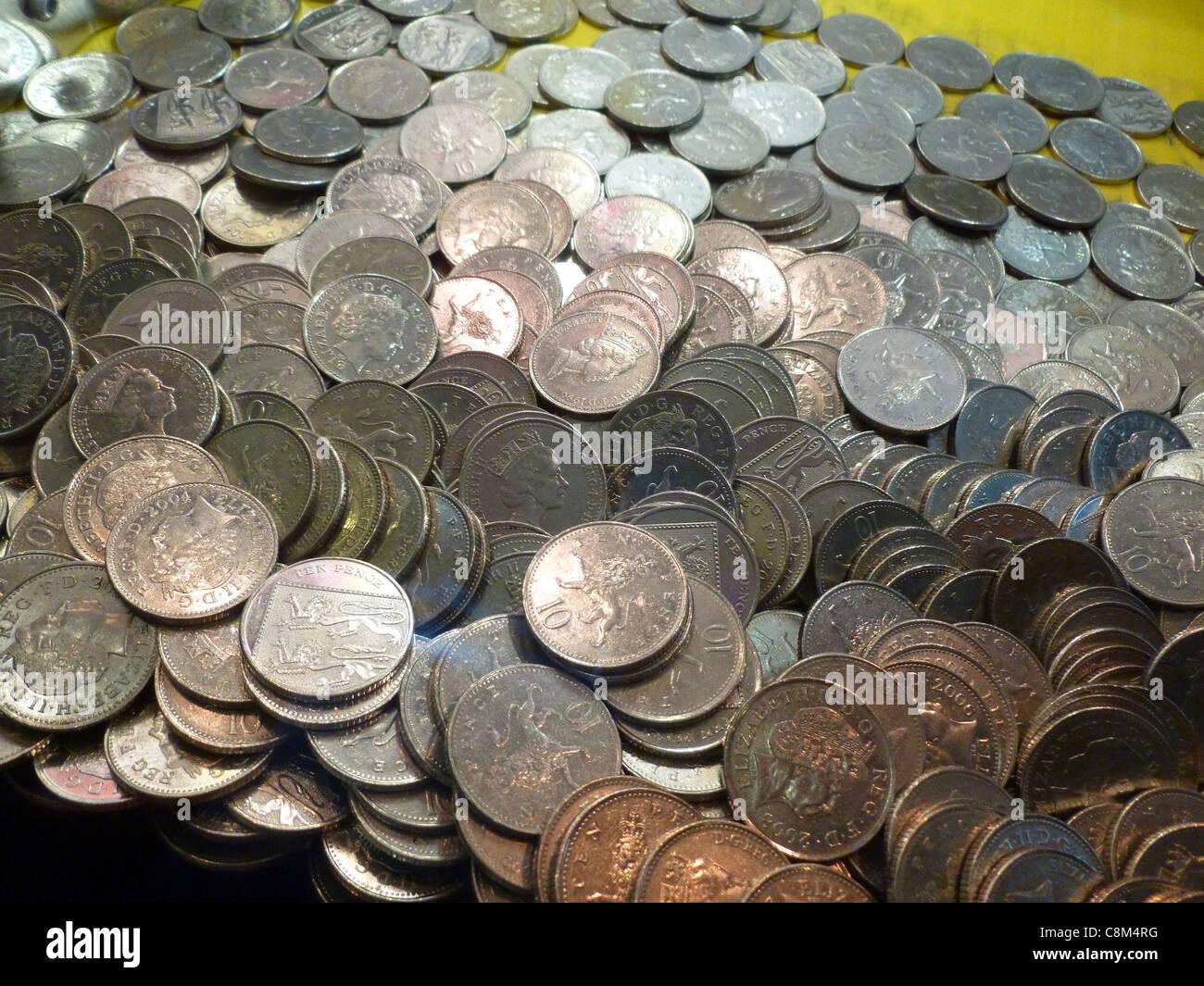 Sacco di soldi Immagini Stock