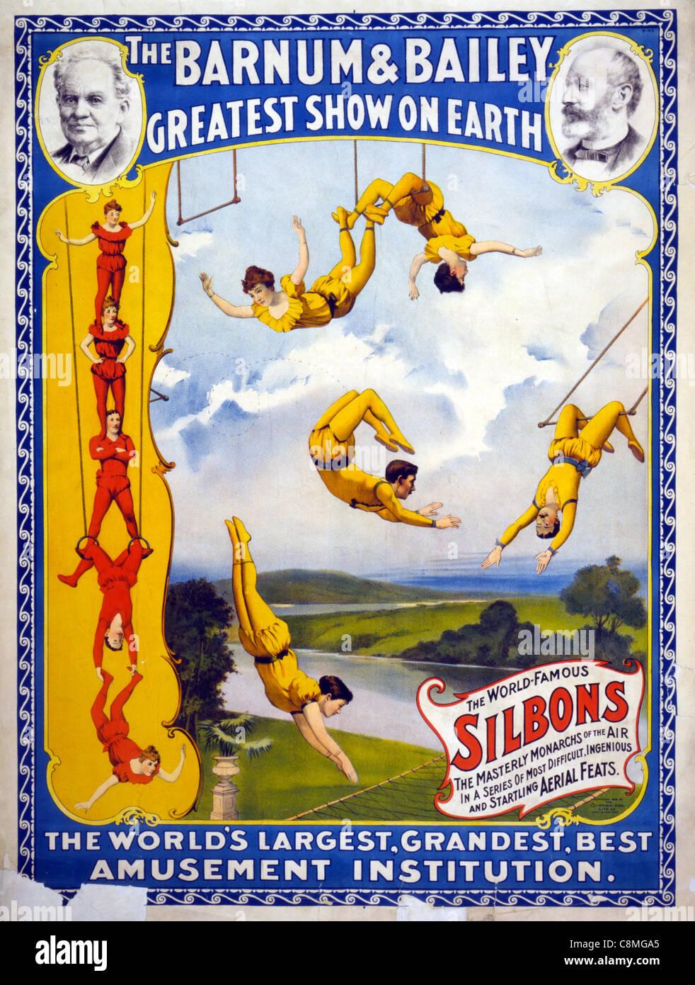 Il Barnum & Bailey più grande spettacolo sulla terra il più grande del mondo, grandiosi, migliore Immagini Stock