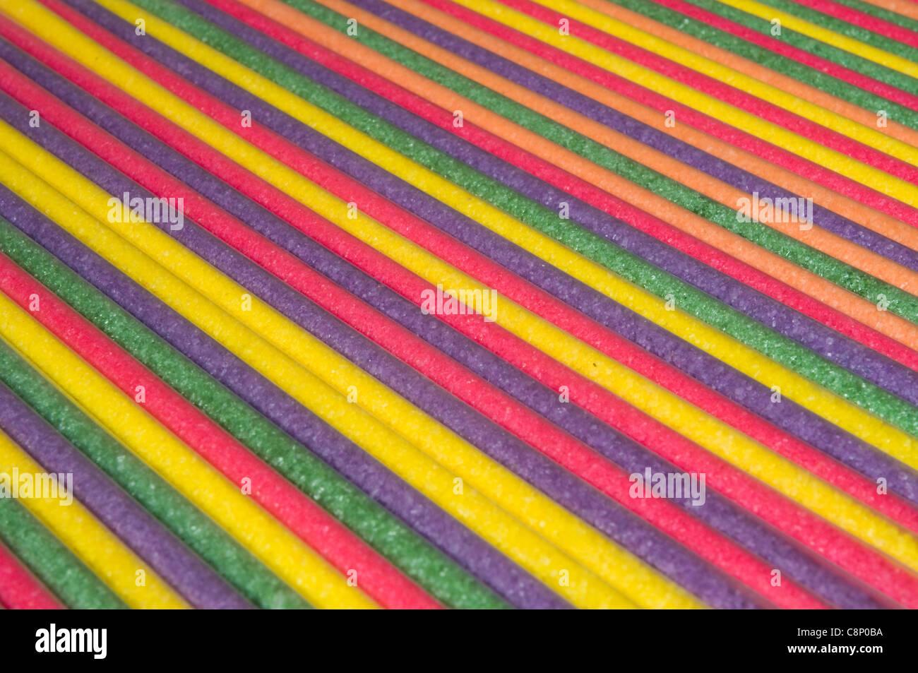 Candy sticks in studio di impostazione Immagini Stock