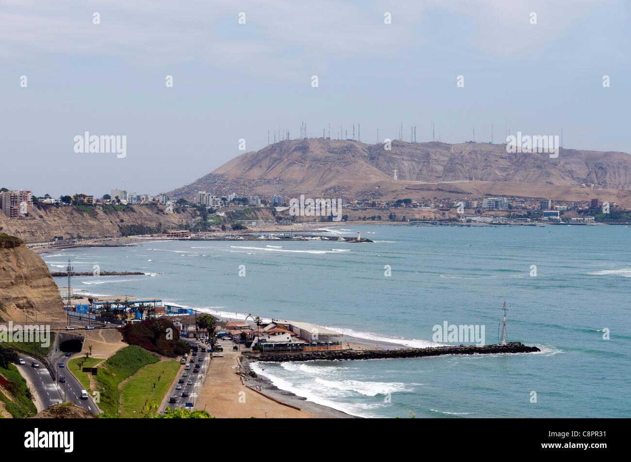 Lima città costiera del Perù Immagini Stock