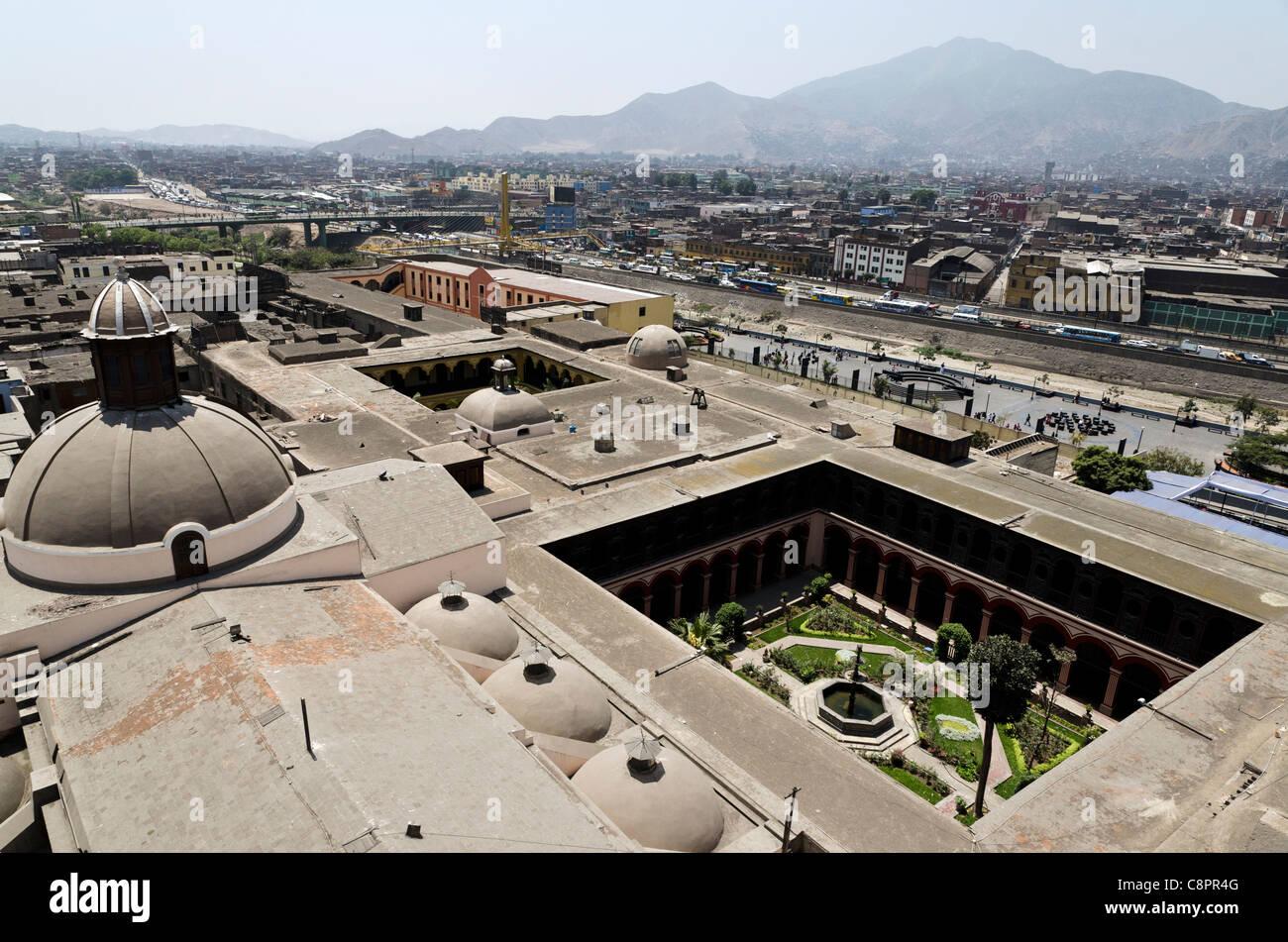 Vista aerea della città di Lima Peru Immagini Stock