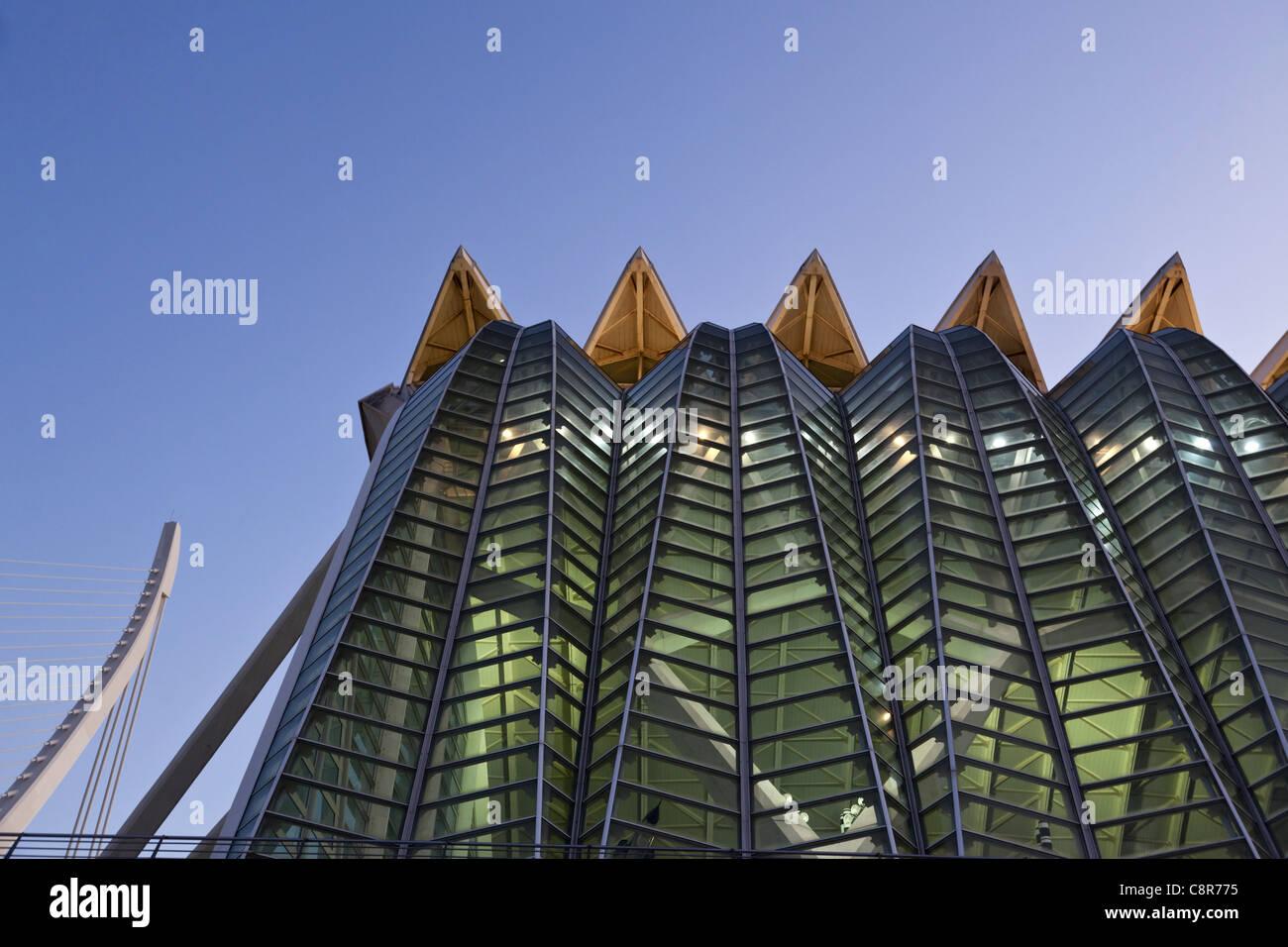 Príncipe Felipe Science Museum Città delle scienze e delle arti dell'architetto Santiago Calatrava Immagini Stock