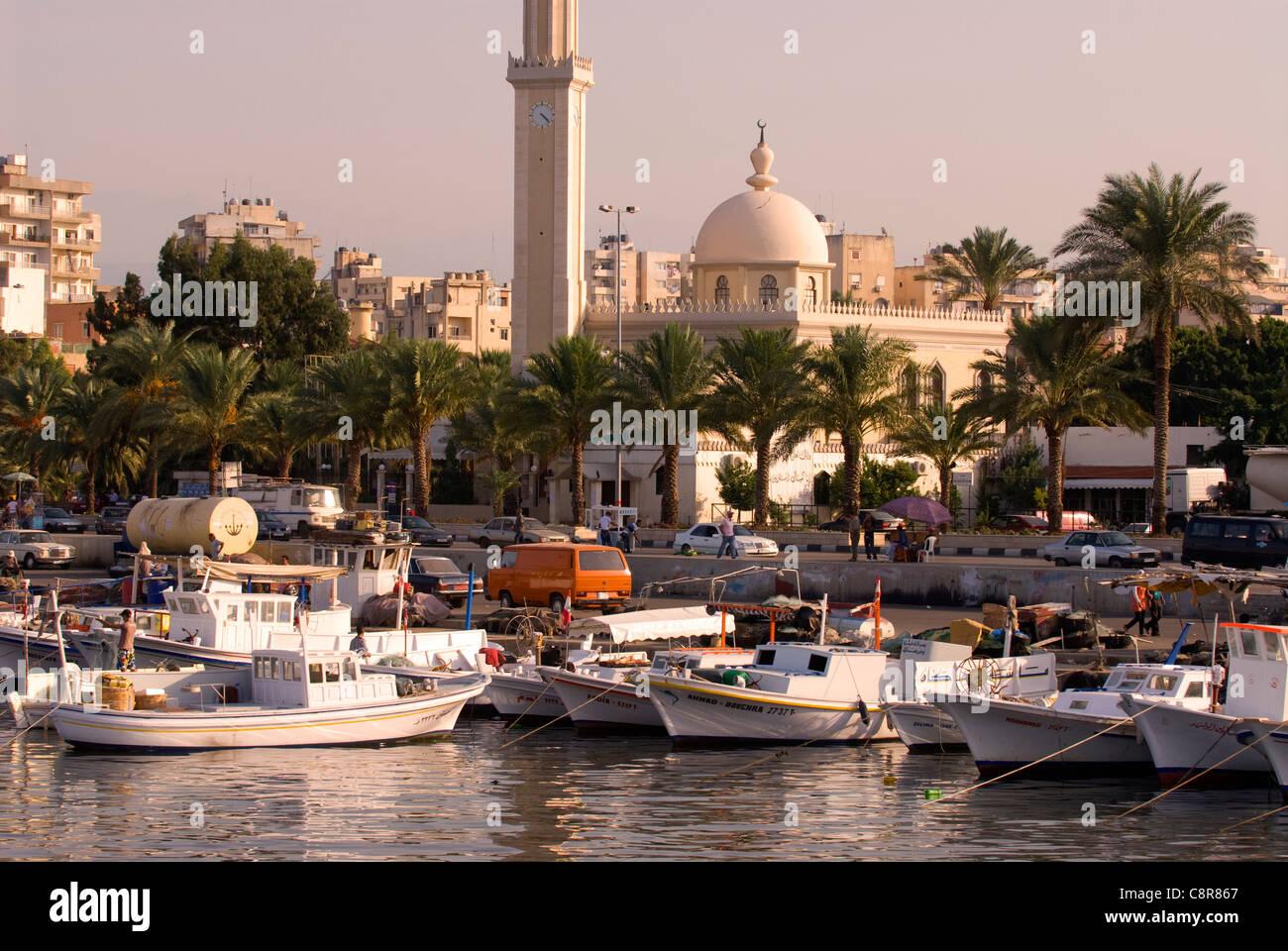 Area portuale (Al-Mina), Tripoli (Trablous), nel nord del Libano. Immagini Stock