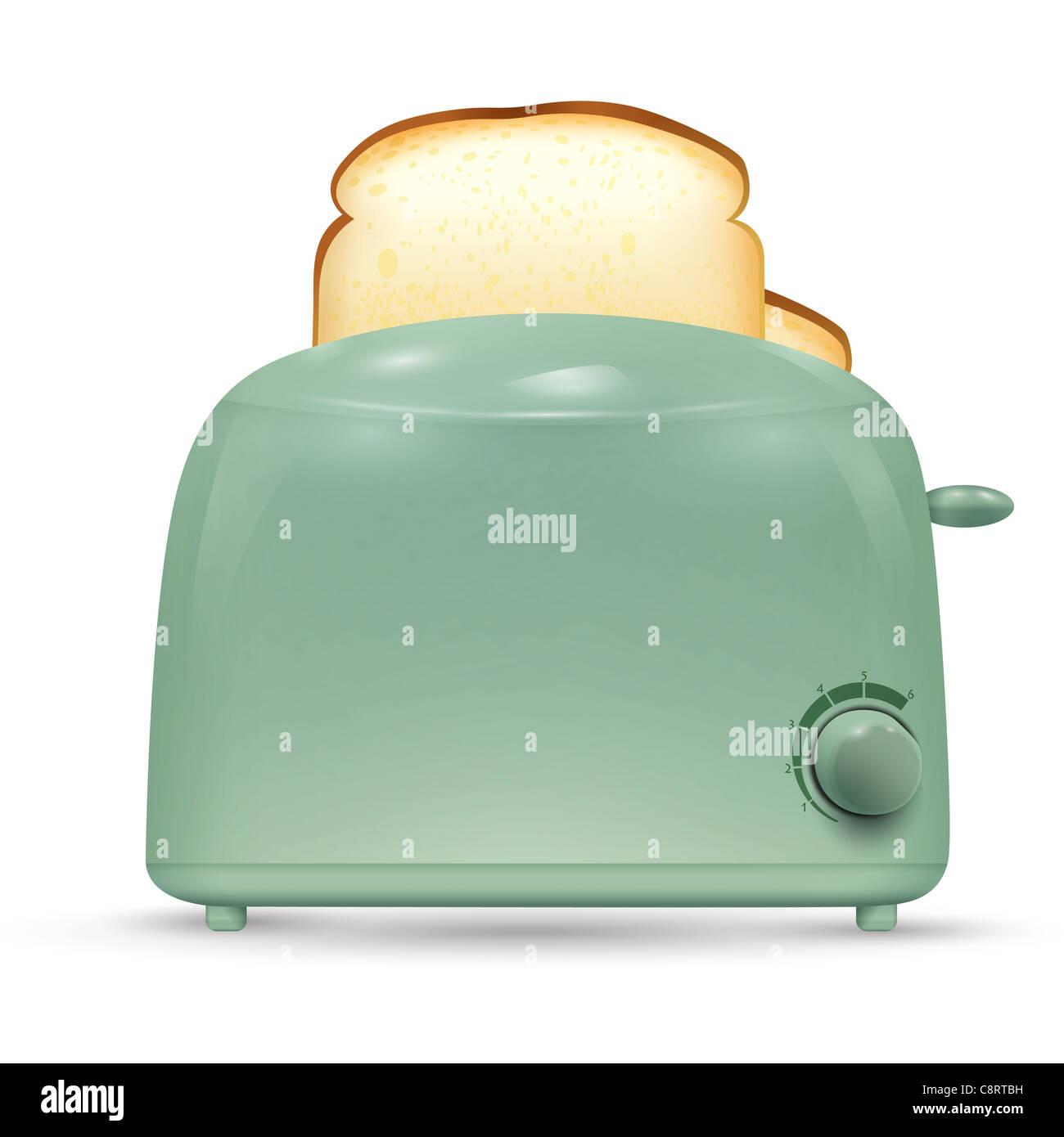 Pane tostapane Immagini Stock