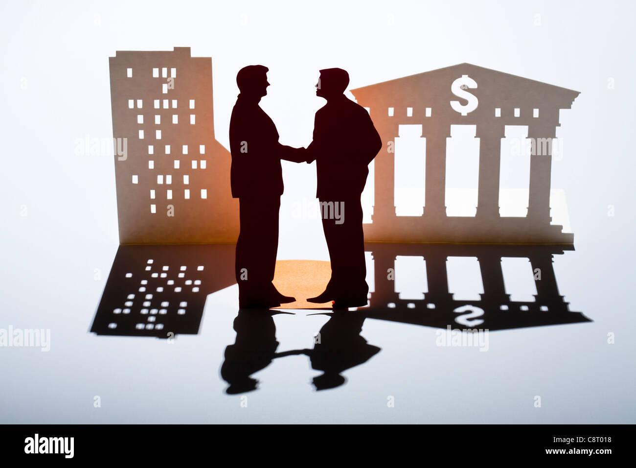 Concetto di successo e il partenariato Immagini Stock