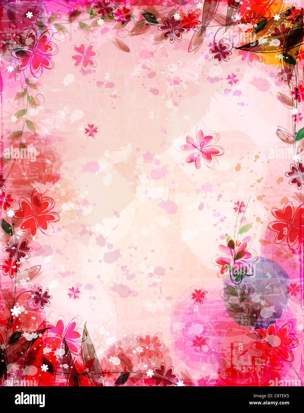 Sullo sfondo della flora Immagini Stock