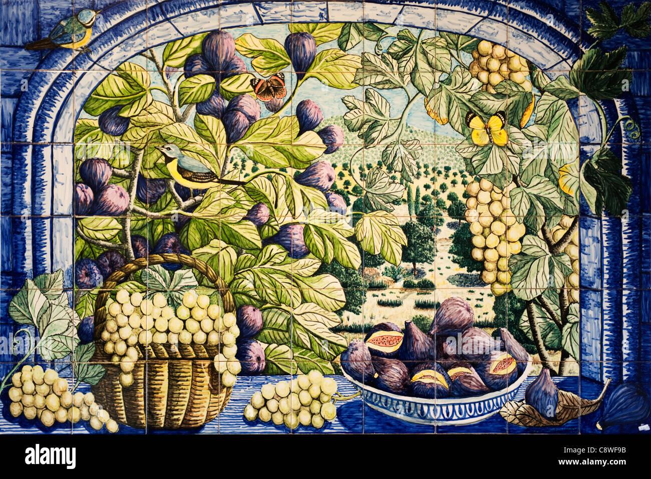 Il portogallo algarve olaria porches piastrelle ceramiche scena di