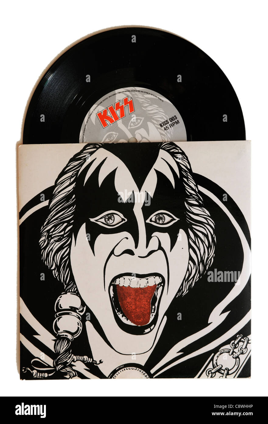 Kiss Lick it up 7' singolo Immagini Stock