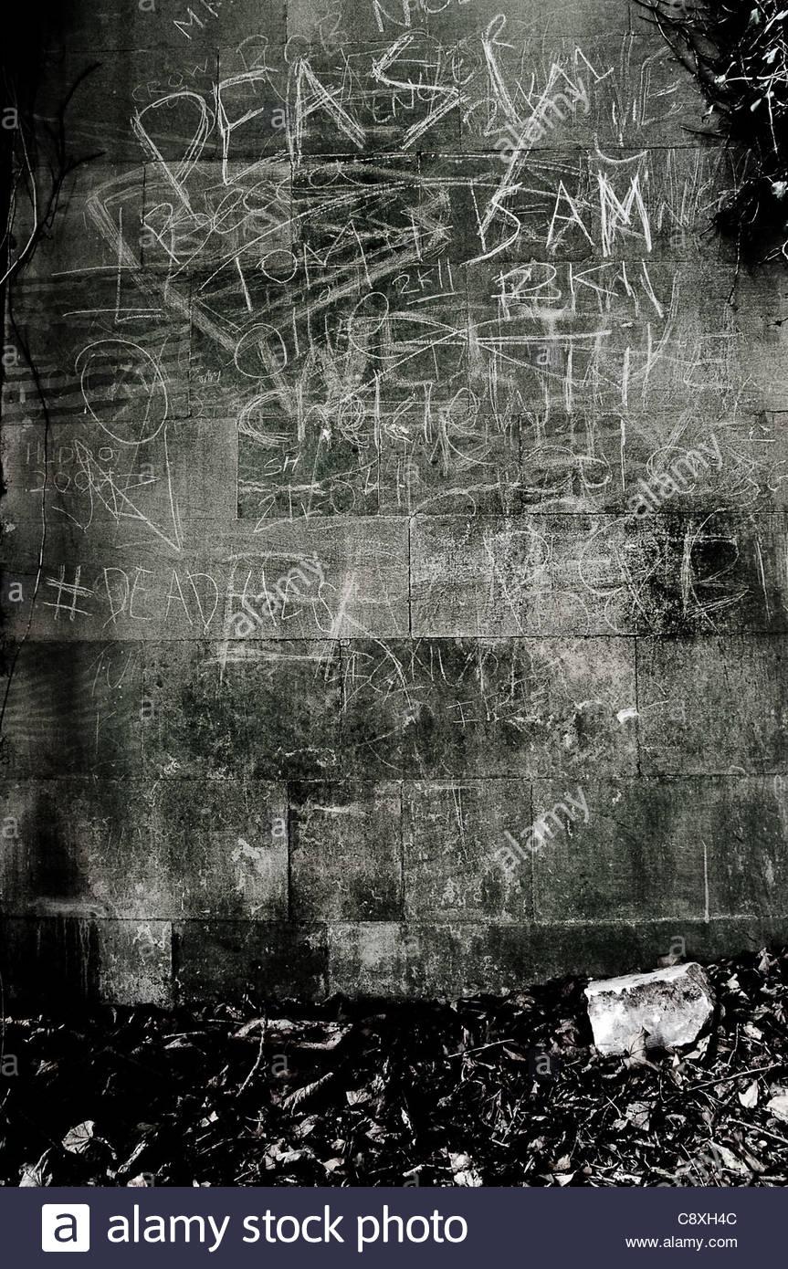 graffiti di gesso Immagini Stock