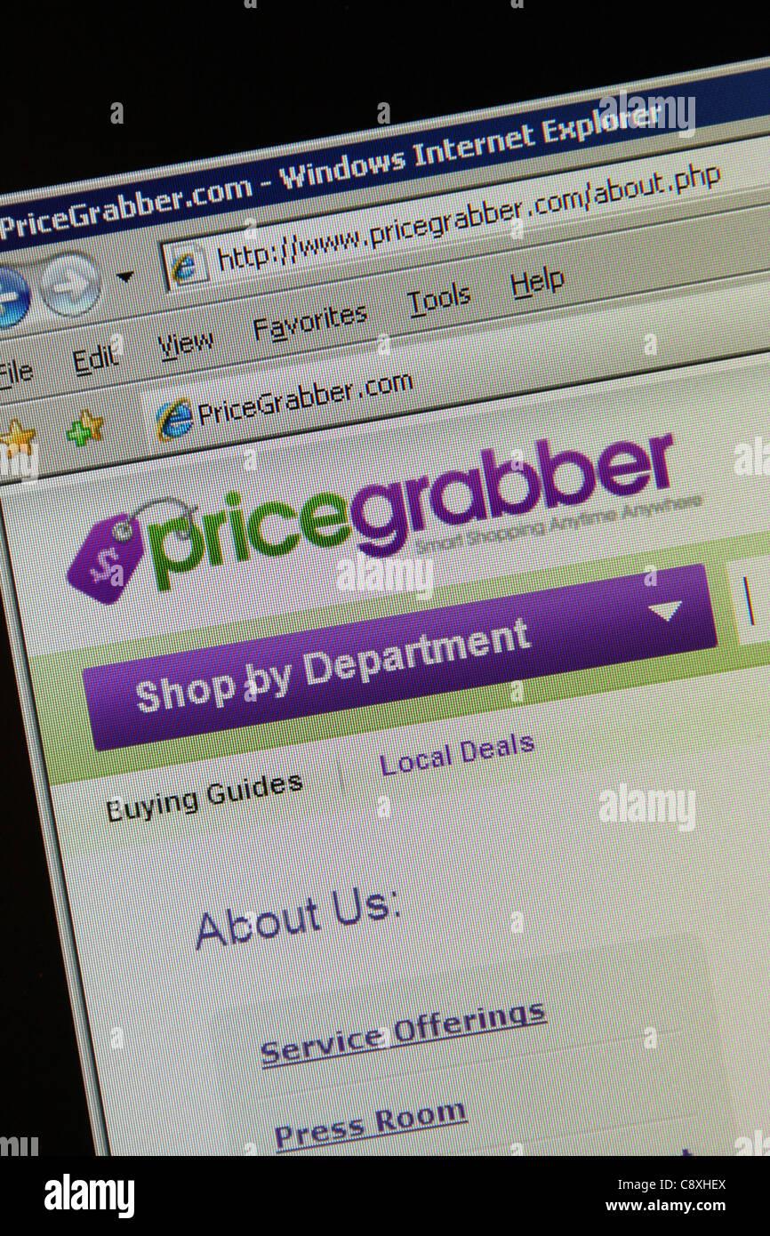 Pricegrabber online shopping di confronto Immagini Stock