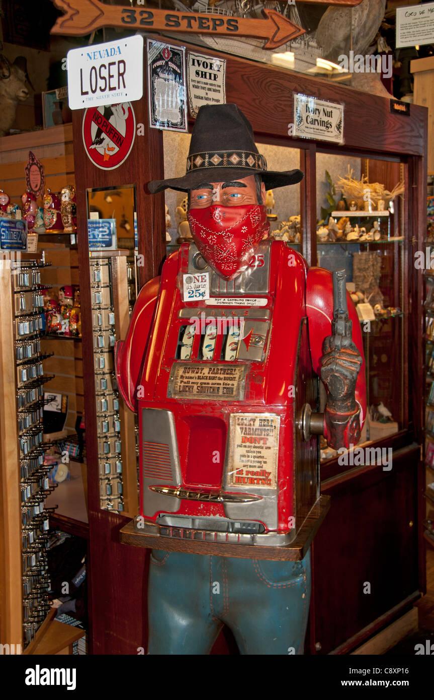 Negozio di souvenir del mercato della baia di Seattle Waterfront Washington Stati Uniti slot machine dipendenza Immagini Stock
