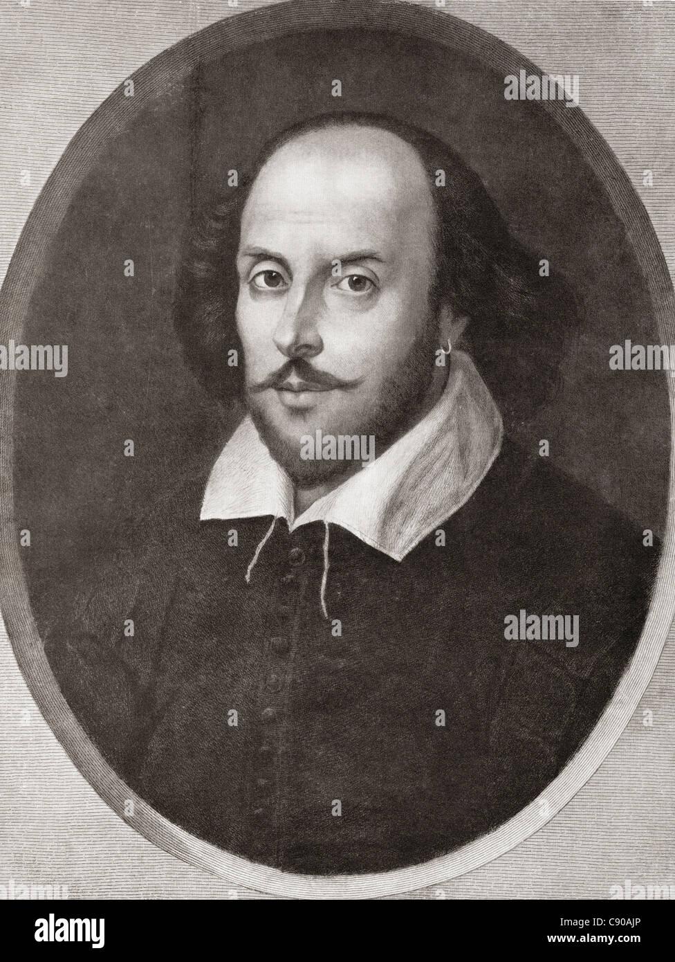 William Shakespeare, 1564 - 1616. Inglese poeta e drammaturgo. Da Bibby la pubblicazione annuale 1910. Foto Stock