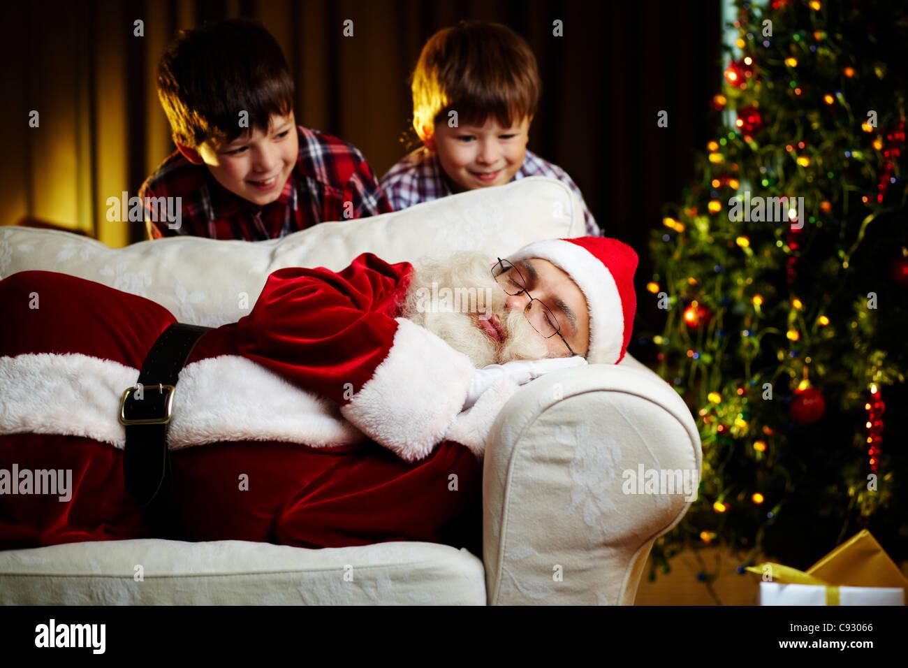 Videochiamata Babbo Natale.Babbo Natale Che Dorme Ipasvialessandria