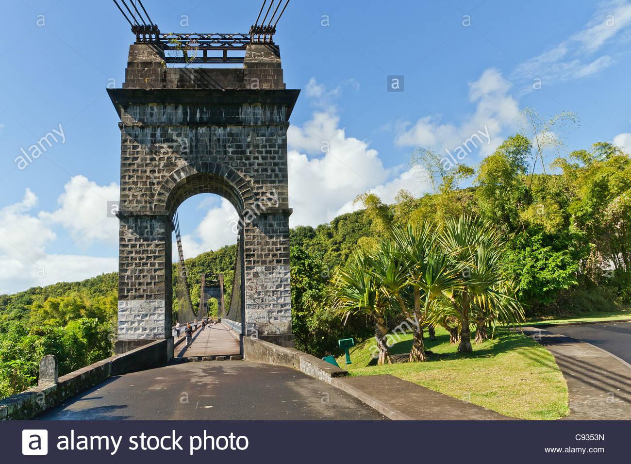 Isola di Reunion : sospensione storico denominato ponte Pont des Anglais Immagini Stock
