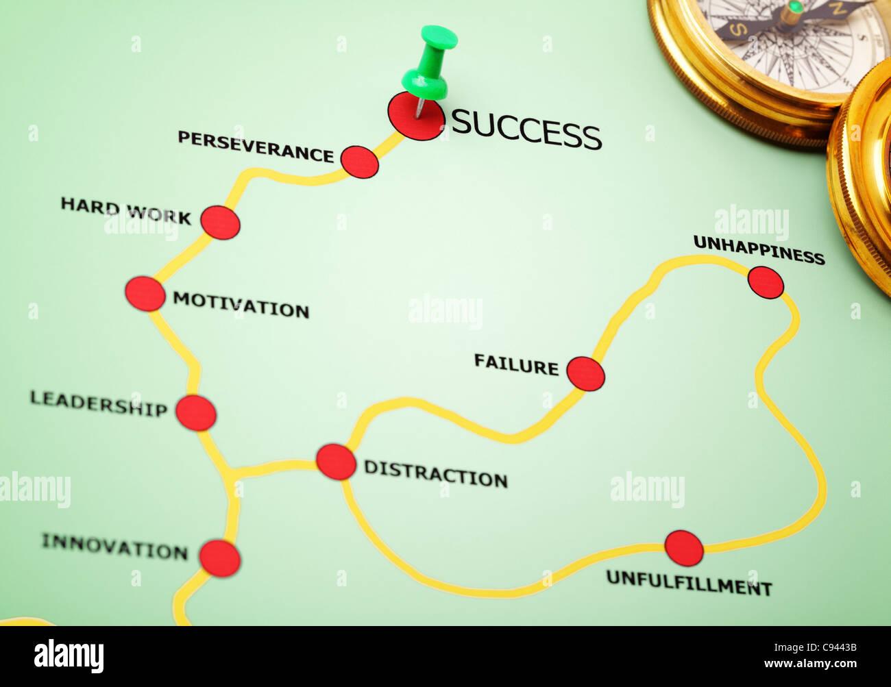 La strada per il successo Immagini Stock