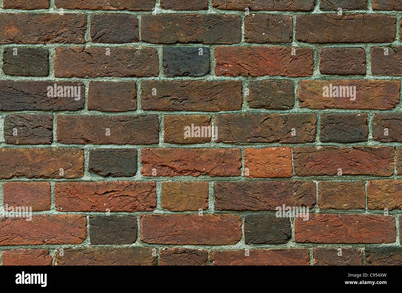 Antico muro di mattoni. Immagini Stock