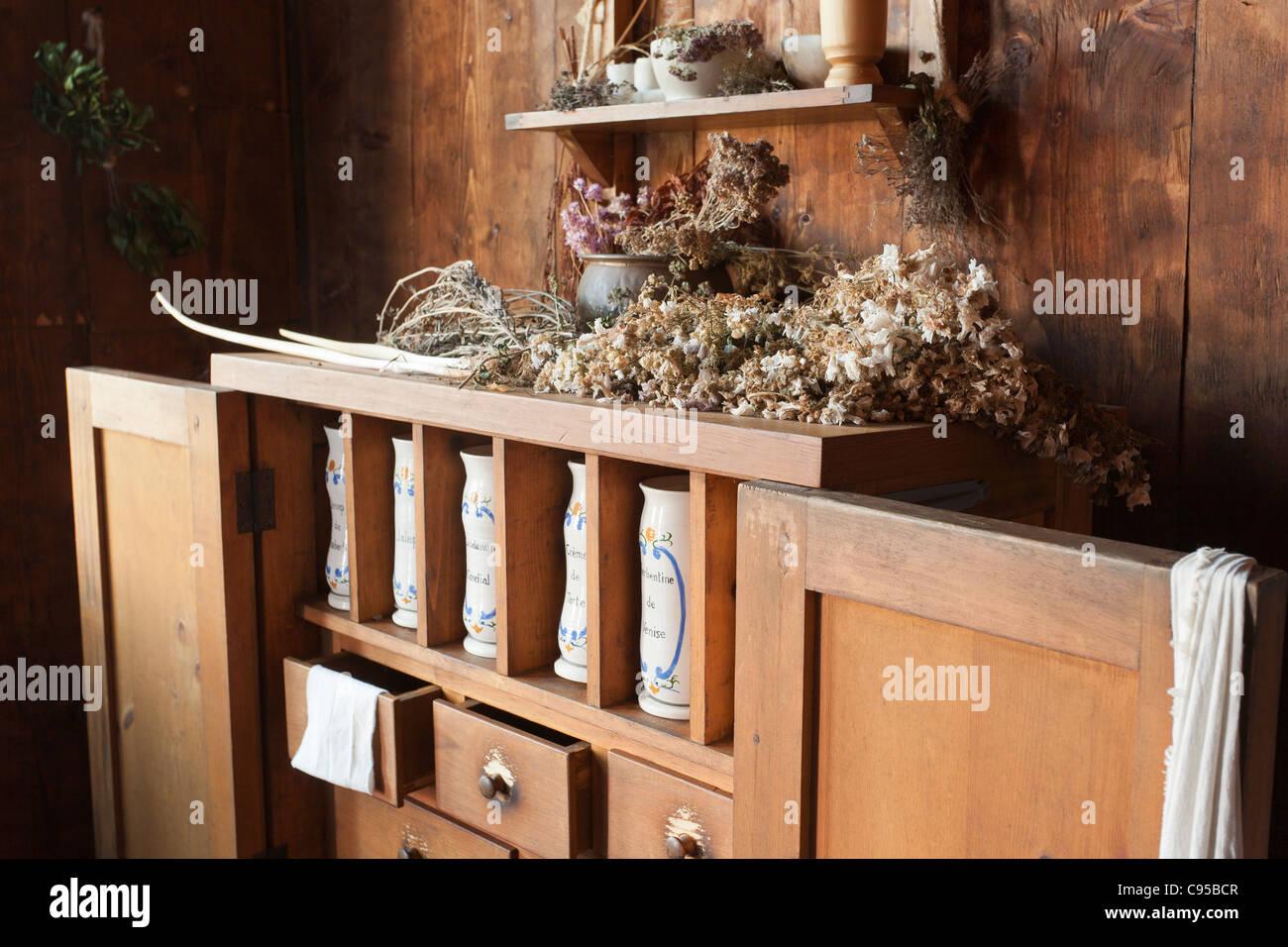 Speziale dello stand a Port Royal. Il ricostruito Port Royal abitazione edificata agli inizi del seicento Immagini Stock
