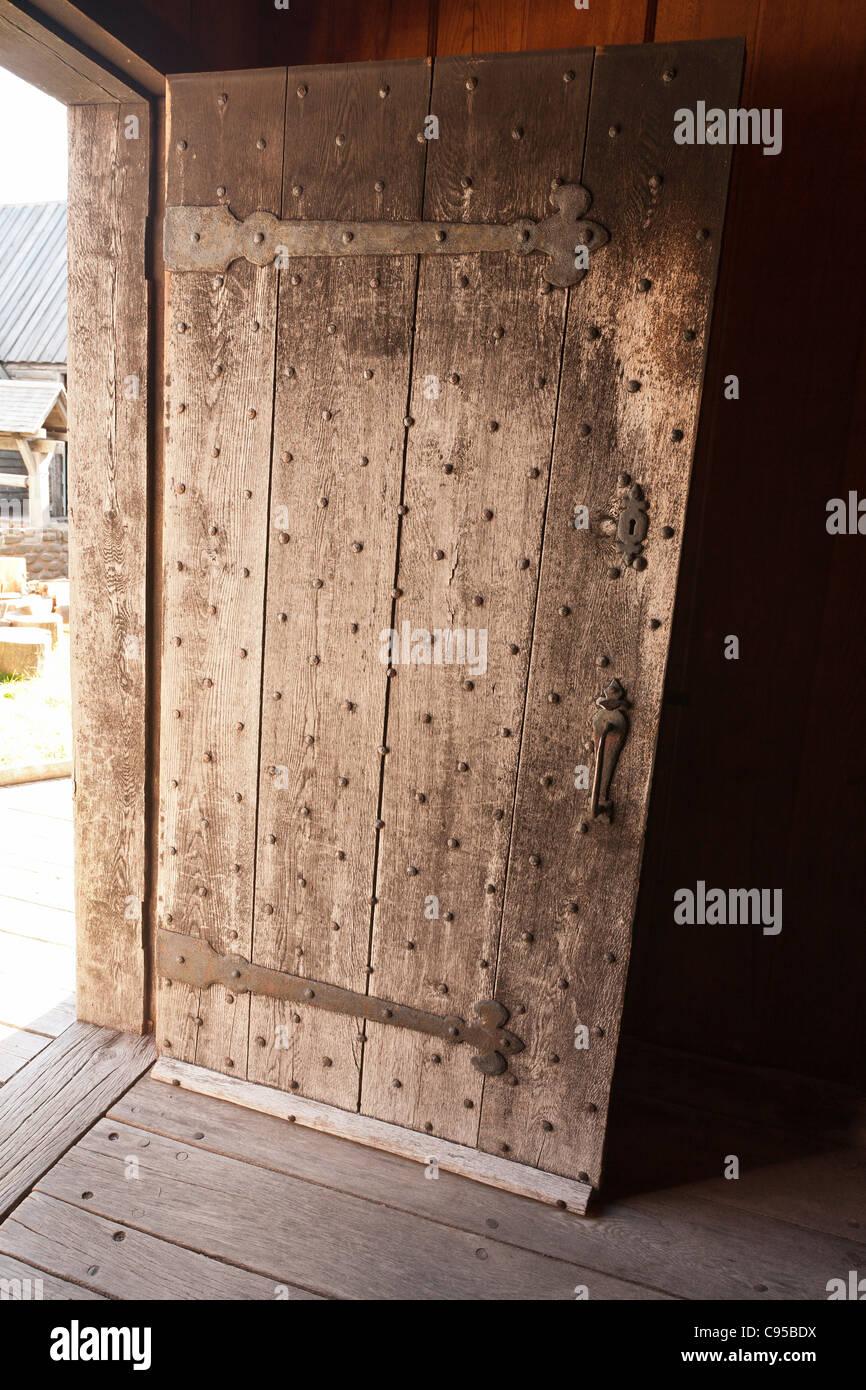 Porta fortificata a Port Royal. Il ricostruito Port Royal abitazione edificata agli inizi del seicento Immagini Stock
