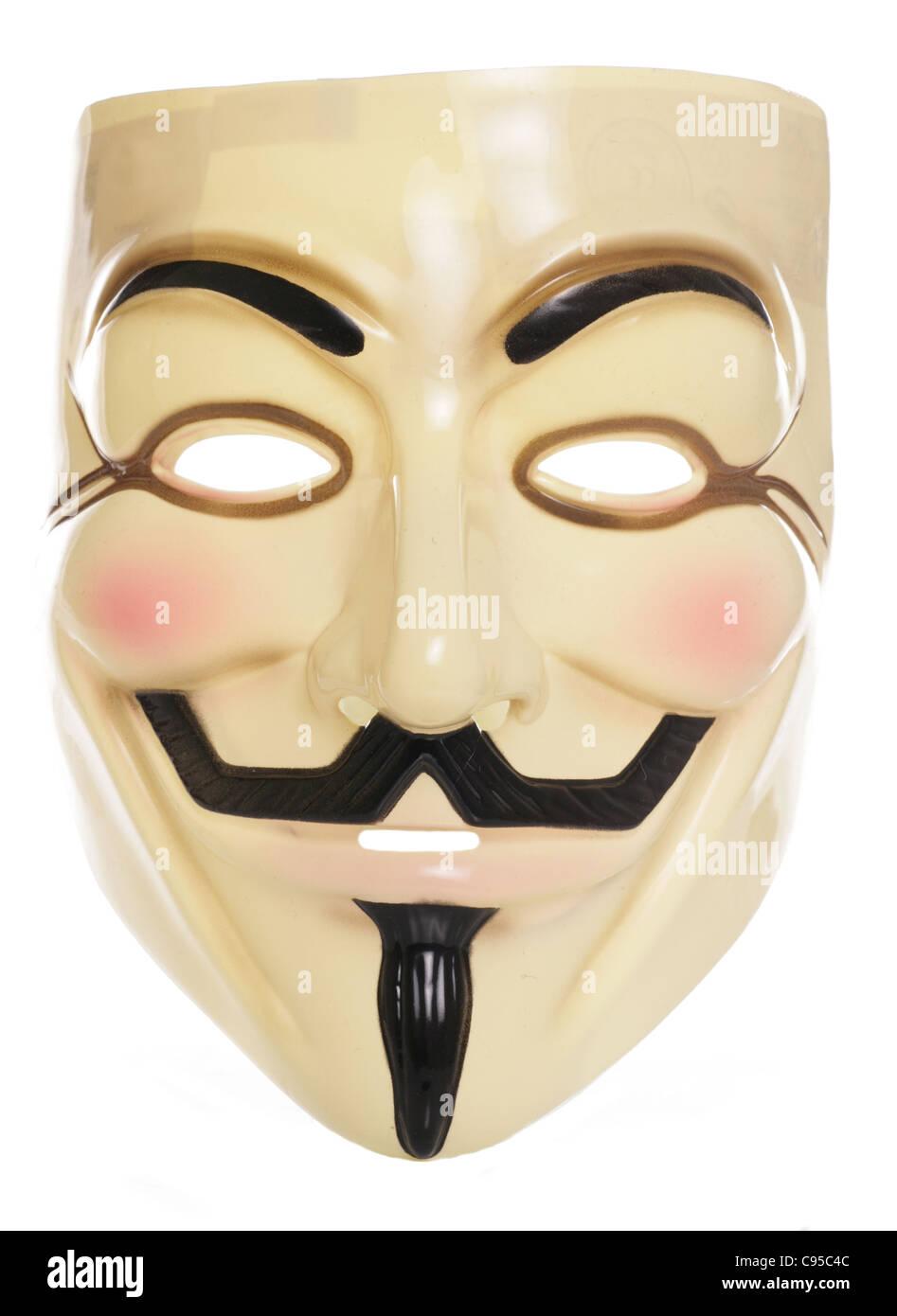 Guy Fawkes studio maschera di ritaglio Immagini Stock