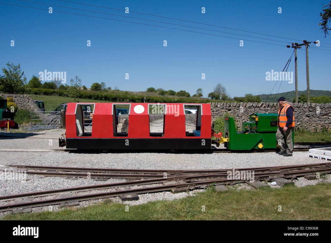 Steeple Grange stretta miniaturizzati gage ferrovia Immagini Stock