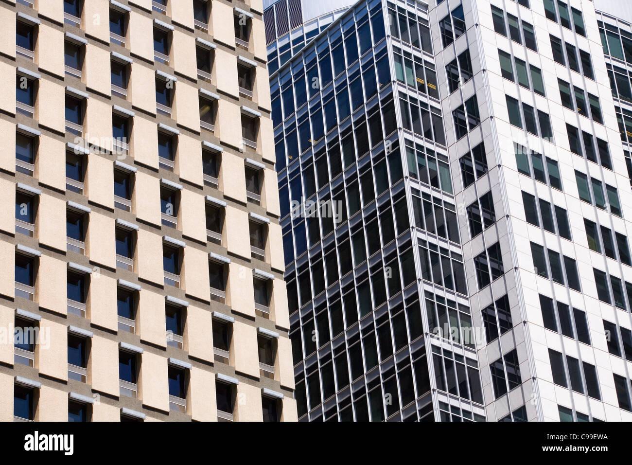 Architettura moderna di Sydney il distretto centrale degli affari. Sydney, Nuovo Galles del Sud, Australia Immagini Stock