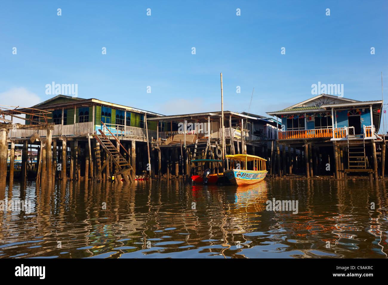 Kampung Ayer, Bandar Seri Begawan, Brunei Darussalam, Asia Immagini Stock