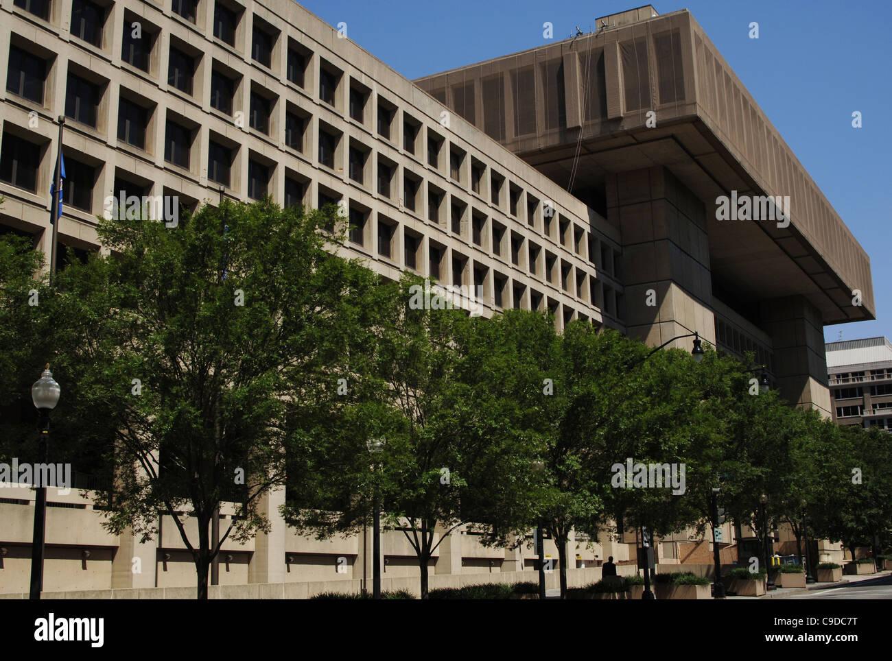F.B.I. (Ufficio federale dell'inchiesta). Esterno. Washington D.C. Stati Uniti. Immagini Stock