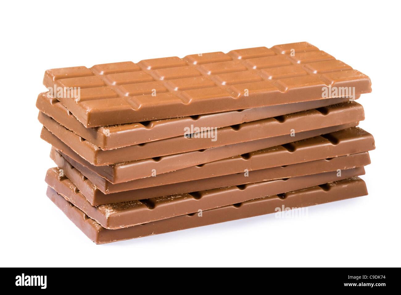 Pila di cioccolato. Immagini Stock