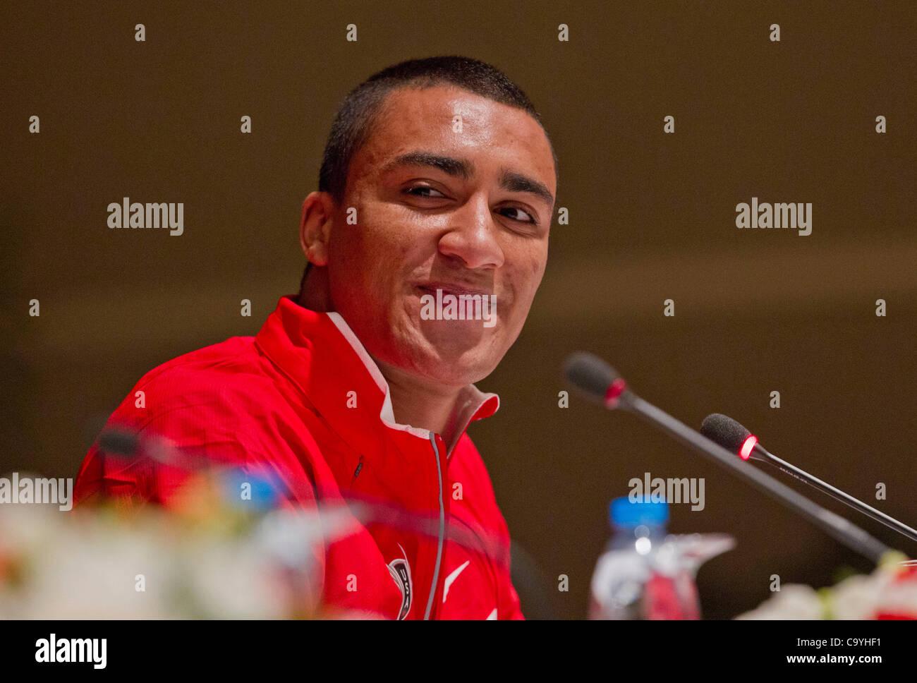 ISTANBUL, TURCHIA: Giovedì 8 marzo 2012, Ashton Eaton degli Stati Uniti d'America (USA), heptathlon detentore Immagini Stock