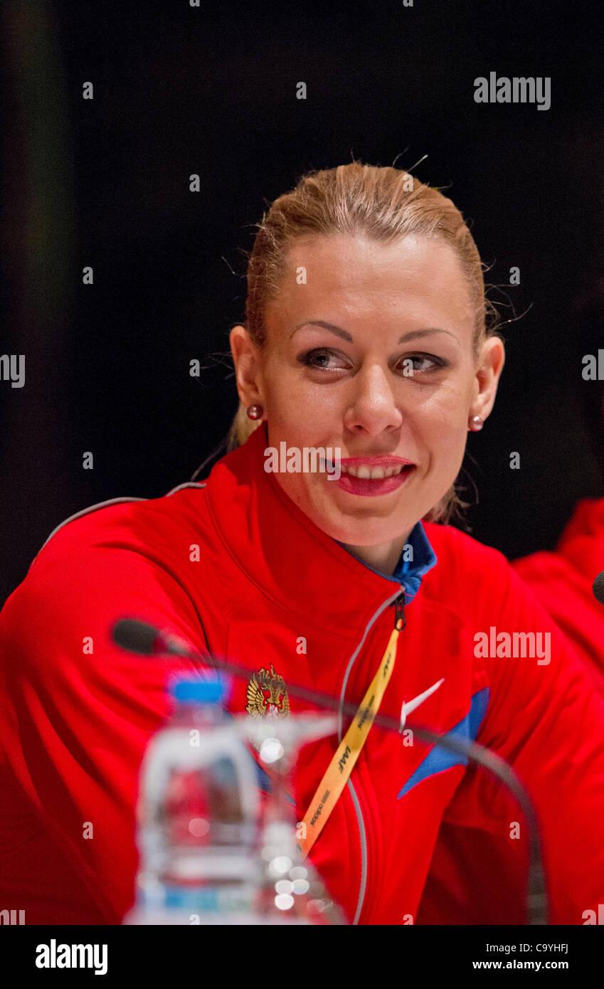 ISTANBUL, TURCHIA: Giovedì 8 marzo 2012 Tatyana Chernova della Russia (RUS), heptathlon campione del mondo Immagini Stock