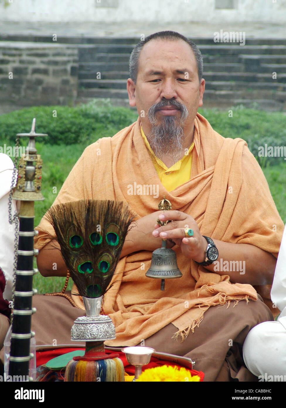 Jun 08, 2004; Kathmandu, Nepal; 'Pashupatinath' tempio è uno dei prestigiosi templi sacri per gli Indù Immagini Stock