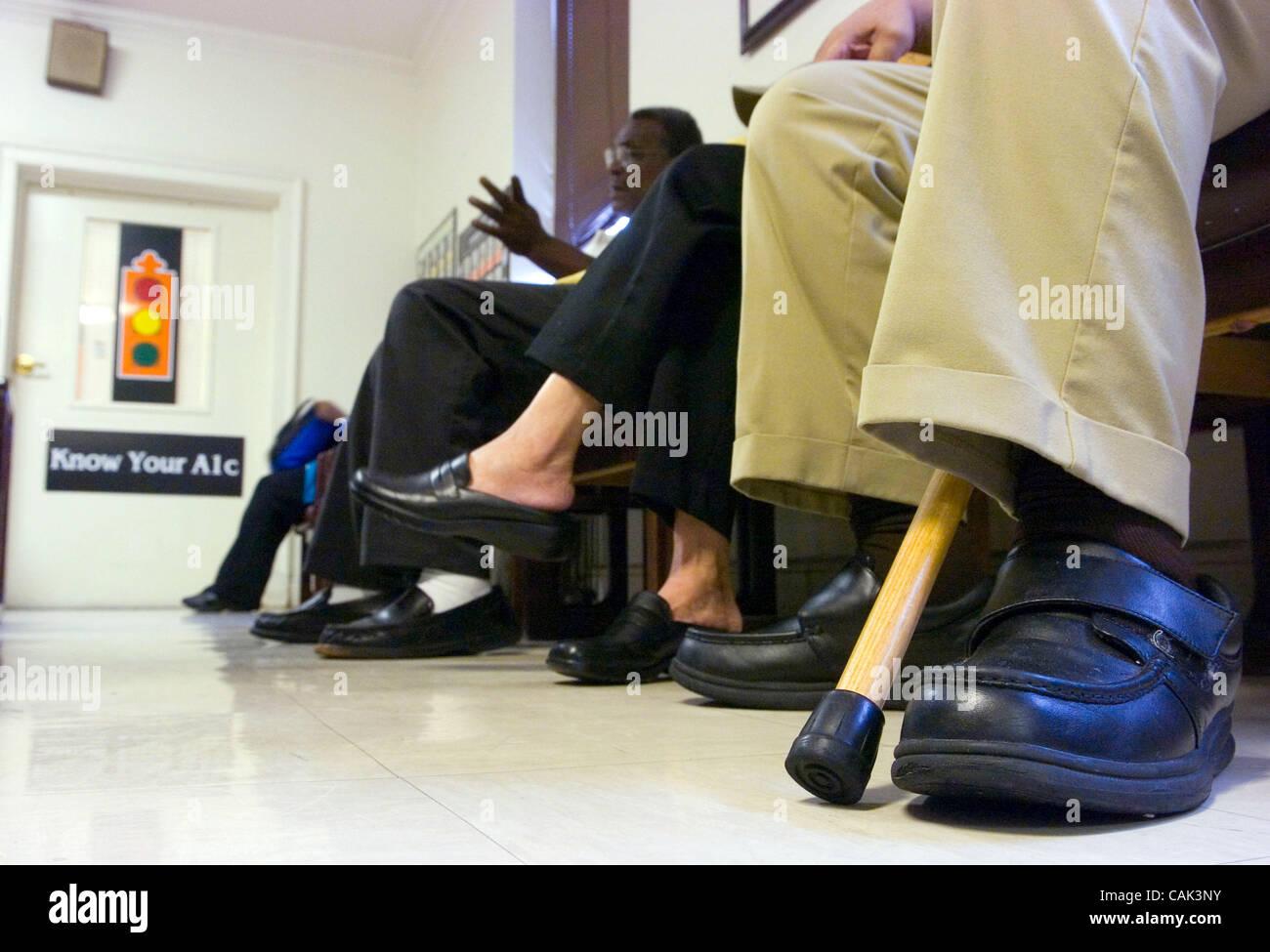 ATLANTA, GA - 21 settembre: l'affollata sala di attesa presso la clinica del diabete a Grady Memorial Hospital Immagini Stock